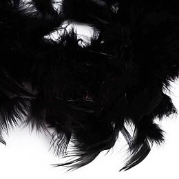 Боа - перо черное, 20 см.