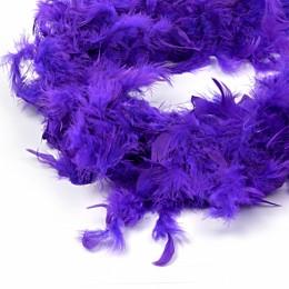 Боа - перо фиолетовое, 20 см.