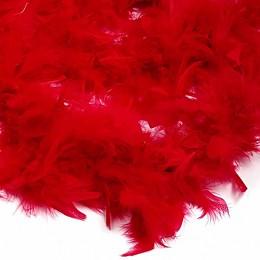 Боа - перо красное, 20 см.
