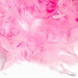 Боа - перо розовое, 20 см.