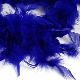 Боа - перо синее, 20 см.