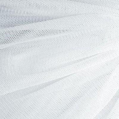 01 Белый стрейч фатин