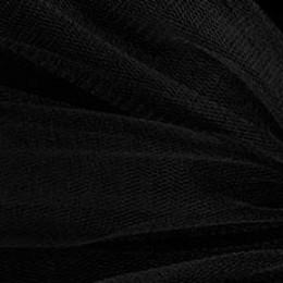 02 Черный стрейч фатин