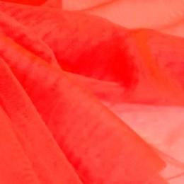 44 Флуо-светло-красный стрейч фатин