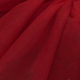 47 Темно-красный стрейч фатин