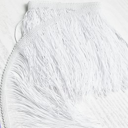 01 Белая бахрома 15см, white cold