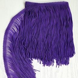 31 Темно-лиловая бахрома 15 см, purple