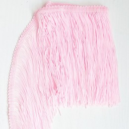 34 Светло-розовая бахрома 15 см, sugar pink