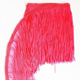 40 Флуо-тепло-розовая бахрома 15 см, flo pink
