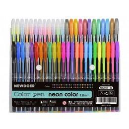 Набор 48 цветов Neon Color гелевые ручки, 1.0 мм