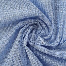 23 Голубая глиттерная ткань, мелкие блестки