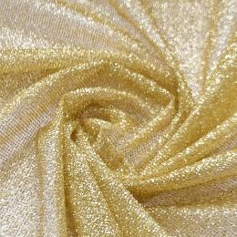 55 Золотая глиттерная ткань, мелкие блестки