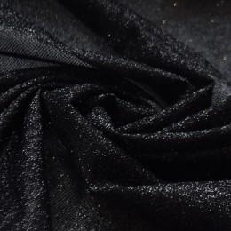 02-2 Черная глиттерная ткань, мелкие блестки