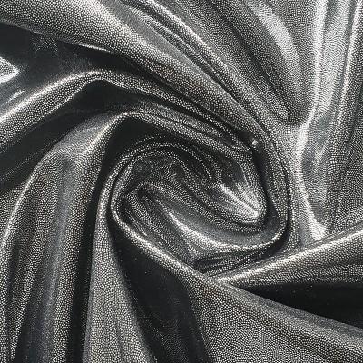 04 Сталь (серебро на черном бифлексе), голограмма эластичная, Италия