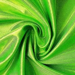 07 Флуо-зеленый на флуо-зеленом бифлексе, голограмма эластичная, Италия