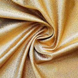 55-2 Золотая мерцающая на бежевом бифлексе, голограмма эластичная Premium, Италия