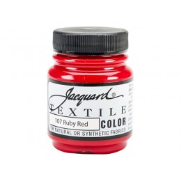 """Краска по ткани """"Jacquard Textile Colors"""" №107 рубиновый красный"""