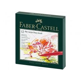 """Лайнеры """"Faber Castell"""" 12 цветов в студийной коробке"""