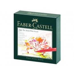 """Лайнеры """"Faber Castell"""" 24 цвета в студийной коробке."""