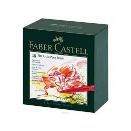 """Лайнеры  """"Faber Castell"""" 48 цветов в студийной коробке."""