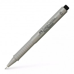 0,2мм Лайнер Faber Castell Ecco Pigment, черный