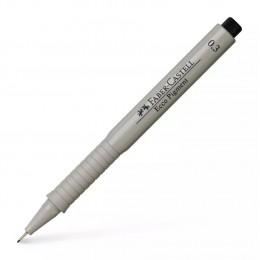 0,3мм Лайнер Faber Castell Ecco Pigment, черный
