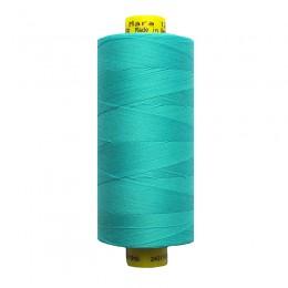 12 Яркий светло-бирюзовый, голубой. Нитки GUTERMANN Mara 120 №5396