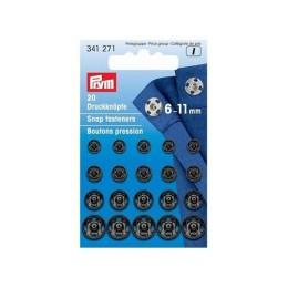 Кнопки пришивные  PRYM латунь 6-11мм, черные
