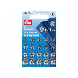 Кнопки пришивные  PRYM латунь 6-11мм
