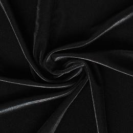 02-1 Черный гладкий бархат, Италия, Carvico
