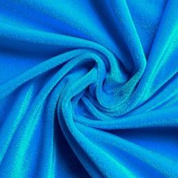 19 Голубой гладкий бархат, Италия, Carvico