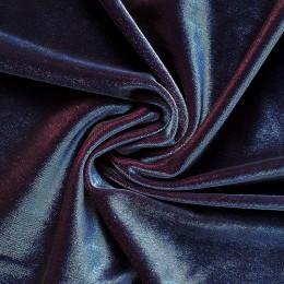 26-2 Черно-синий-лиловый гладкий бархат, двуцветный