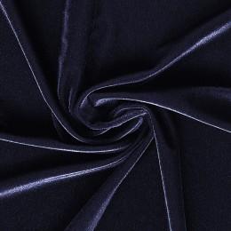 26-3 Черно-синий гладкий бархат, Италия, Carvico