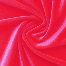 45 Флуо-красный гладкий бархат, Англия, Chrisanne