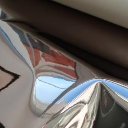 Черное серебро глянец , ткань зеркальная (винил)
