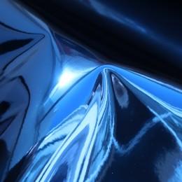 Синий глянец , ткань зеркальная (винил)